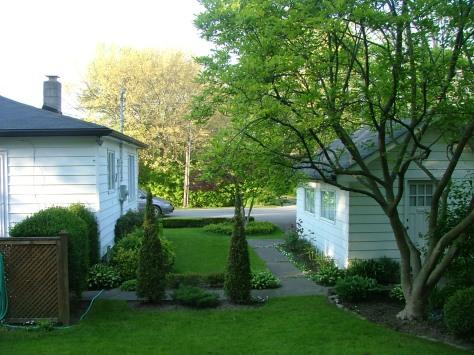Backyard view to front yard